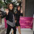 Les jumelles Tia et Tamera Mowry et le bébé de Tia à New York le 27 septembre 2011