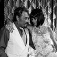 """Laeticia et Johnny Hallyday - Pour le 72e anniversaire de Johnny, son épouse a organisé une soirée année sur le thème du roman """"Gatsby le Magnifique"""", samedi 12 juin 2015."""