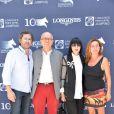 Exclusif - Christophe Bonnat, Chantal Thomass et son mari Michel Fabian et Coco Coupérie-Eiffel, lors du premier jour du Longines Paris Eiffel Jumping au Champ-de-Mars à Paris, le 3 juillet 2015.