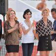 Exclusif - Coco Coupérie Eiffel, Rachida Dati et Virginie Coupérie Eiffel, lors du premier jour du Longines Paris Eiffel Jumping au Champ-de-Mars à Paris, le 3 juillet 2015.