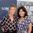 Exclusif - Virginie Coupérie Eiffel et Anne Hidalgo, lors du premier jour du Longines Paris Eiffel Jumping au Champ-de-Mars à Paris, le 3 juillet 2015.