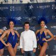 Exclusif - Prix Spécial - No Tabloïd - No Web No Blog - Frédéric Vardon - Photocall avec les danseuses du Lido lors du Longines Paris Eiffel Jumping au Champ-de-Mars à Paris, le 5 juillet 2015.
