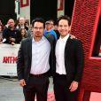 Michael Pena et Paul Rudd lors de l'avant-première du film Ant-Man à Londres le 8 juillet 2015