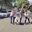 Le groupe Rewind - Photo postée sur Twitter, juillet 2015