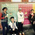 Les membres du groupe Rewind à Londres - Photo postée sur Twitter, juillet 2015
