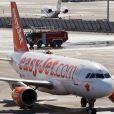 Un avion de la compagnie Easyjet à son arrivée à l'aéroport de Nice, le 21 mars 2012