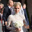 Nicky Hilton quitte l'hôtel Claridges à Londres pour aller se marier au palais de Kensington avec James Rotschild le 10 juin 2015