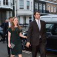 Chelsea Clinton et son mari Marc Mezvinsky - Soirée de pré-mariage de Nicky Hilton et James Rothschild au manoir Spencer House à Londres. Le 9 juillet 2015