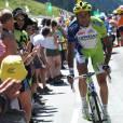 Ivan Basso sur la 16e étape du Tour de France le 18 juillet 2012 entre Pau et Bagnères-de-Luchon