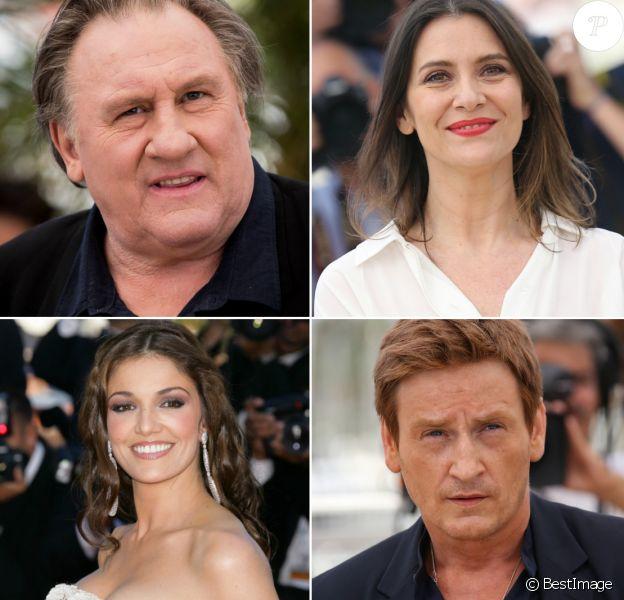 Gérard Depardieu, Géraldine Pailhas, Nadia Farès et Benoît Magimel, vedettes de la série Marseille chapeautée par Netflix.