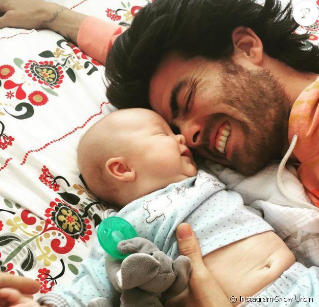 Jonathan (Secret Story 3) et sa petite Jetaime, en juillet 2015.