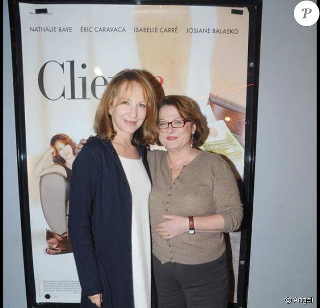 Première du film 'Cliente' : Josiane Balasko et Nathalie Baye
