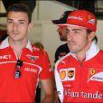 Fernando Alonso avec Jules Bianchi lors du Grand Prix d'Espagne, sur le circuit de Catalogne, le 9 mai 2014