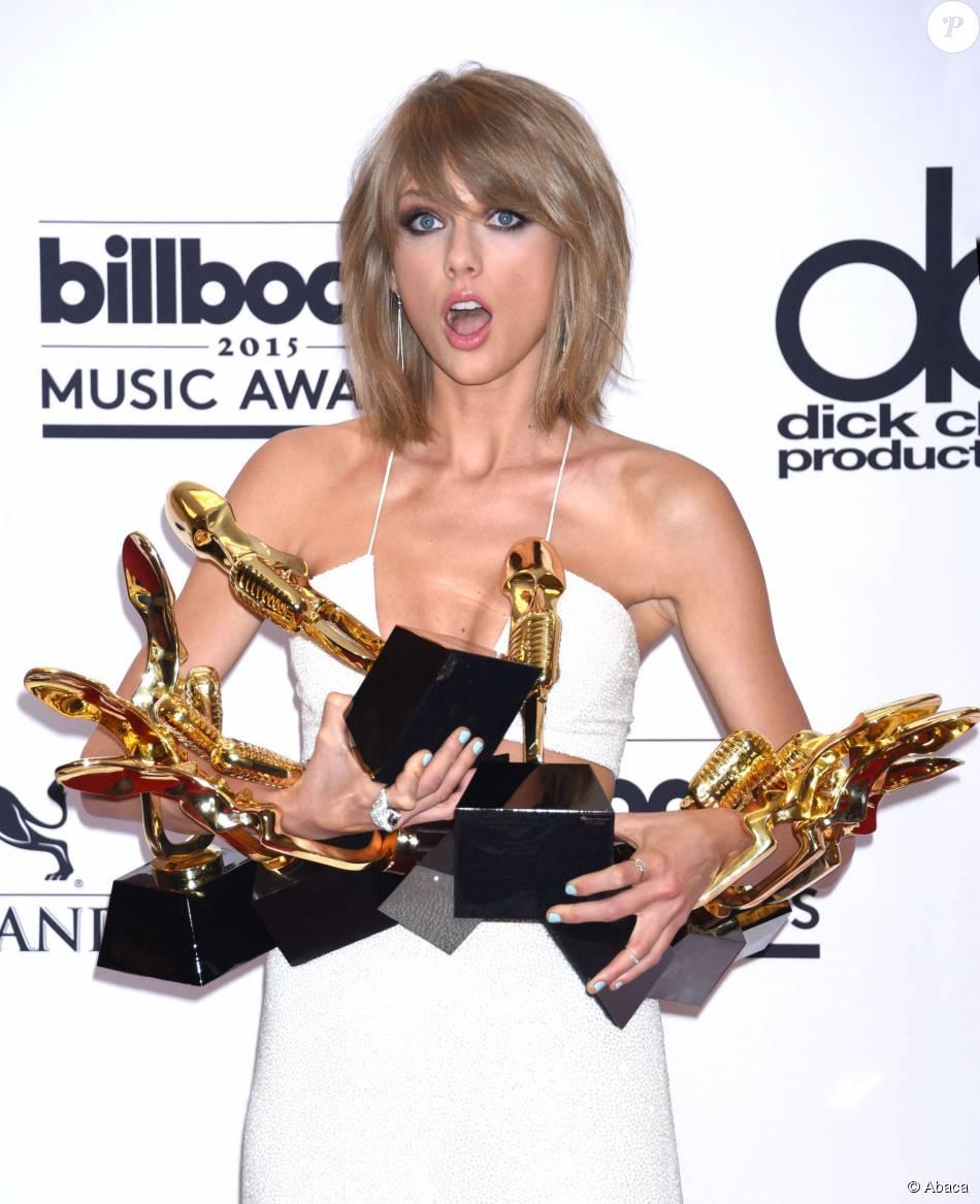Taylor Swift, grande gagnante des Billboard Music Awards 2015 au MGM Grand Garden Arena. Las Vegas, le 17 mai 2015.