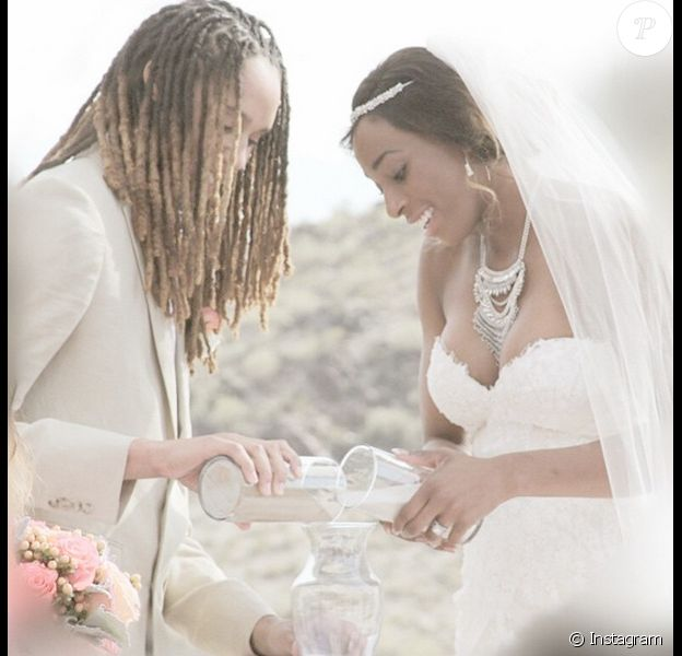 Brittney Griner et Glory Johnson se sont mariées le 8 mai 2015 - photo Instagram du 13 mai 2015