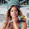 Laverne Cox en couverture d'Entertainment Weekly, juin 2015. L'actrice interprète Sophia Burset dans Orange is the New Black. Les 3 saisons sont  disponibles sur Netflix.
