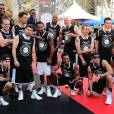 Josh Duhamel, Breckin Meyer, Josh Ostrovsky, Clark Gregg lors du ESPNLA All-Star Celebrity Basketball Game à Los Angeles, le 7 août 2015
