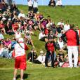 Le prince Frederik de Danemark participait le 19 août 2015 au tournoi de golf pro-am Made in Denmark à Farso, au Himmerdale Golf & Spa Resort.