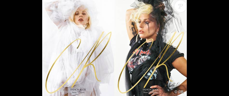 """Lady Gaga, mariée """"classique"""" et """"excentrique"""" en couverture de l'Issue 7 du magazine CR Fashion Book. Photo par Bruce Weber."""