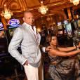 """Terrence Howard et Taraji P. Henson lors du photocall de la série télévisée """"Empire"""" dans les salons privés du Casino de Monte-Carlo, Salle Médecin pendant le 55e Festival de Télévision de Monte-Carlo à Monaco le 15 juin 2015."""