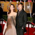 Brad Pitt et Angelina Jolie - Screen Actors Guild Awards à Los Angeles en 2008