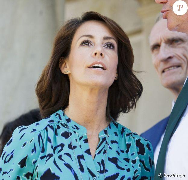 La princesse Marie de Danemark prenait part le 23 août 2015 à la cérémonie de célébration de l'inscription au patrimoine mondial de l'Unesco de la réserve de chasse de Dyrehave et Gribkov, en Zélande du Nord.