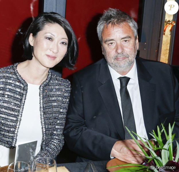Fleur Pellerin et Luc Besson - Dîner au Fouquet's lors de la 40e cérémonie des César à Paris le 20 février 2015.