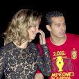 Pedro avec sa compagne Carolina Martin à Madrid le 2 juillet 2012.