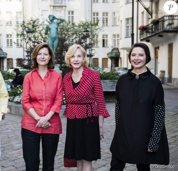 """Roberto Rossellini, Ingrid Rossellini, Pia Lindstrom et Isabella Rossellini - Les enfants d'Ingrid Bergman se retrouvent à Stockholm pour la projection du documentaire """"Je suis Ingrid"""" à Stockholm le 24 août 2015."""