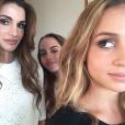 Rania de Jordanie et ses filles les princesses Salma et Iman, photo Instagram août 2015