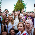 La reine Rania de Jordanie et sa fille la princesse Iman ont participé le 16 août 2015 à Amman à une marche initiée par l'association Out and About. Photo du compte Instagram de la reine Rania, août 2015.
