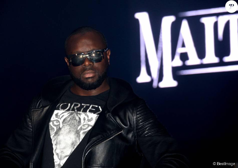 Exclusif - Maître Gims en concert à guichet fermé (vente-privee.com) au Théâtre de Paris, le 1er juin 2015.