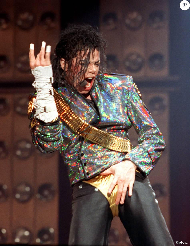 Michael Jackson en concert à Hambourg, le 10 août 1992.