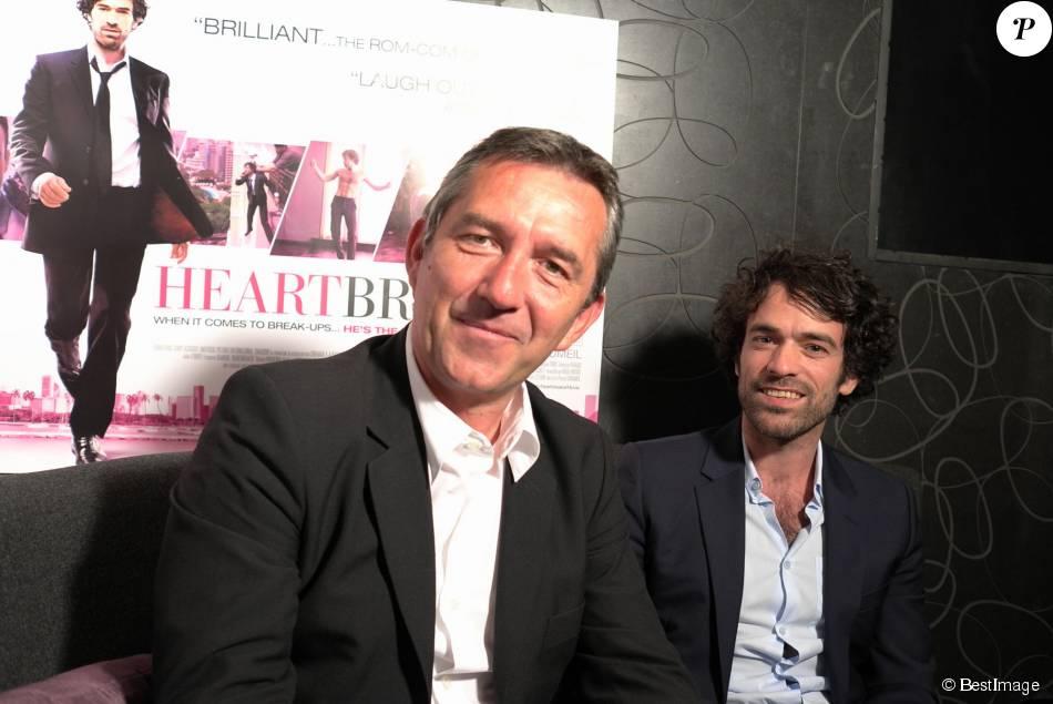 Pascal Chaumeil et romain Duris à Londres, le 25 mai 2010.