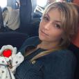 Maria Kirilenko avec son fils né quelques semaines plus tôt - août 2015