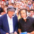 Nelson Monfort et Philippe Candeloro - Emission  Touche pas à mon poste  sur D8, le 31 août 2015.