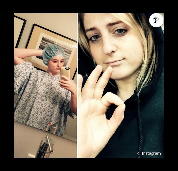 Meghan Trainor hospitalisée pour se faire opérer des cordes vocales / photo postée sur le compte Instagram de la chanteuse.