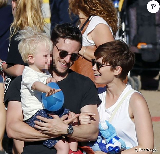 Jamie Bell emmène son fils et sa petite amie Kate Mara à une fête foraine à Malibu, le 7 septembre 2015.