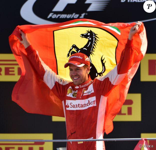 Sebastian Vettel après avoir terminé second du Grand Prix d'Italie à Monzale 6 septembre 2015