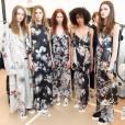 Coulisses du défilé Calvin Klein Collection (collection printemps-été 2016) aux Spring Studios. New York, le 17 septembre 2015.