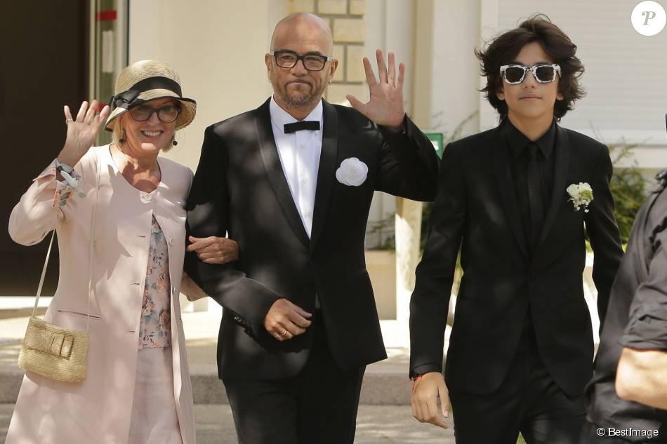 Pascal Obispo et son fils Sean , Mariage civil et religieux de Pascal Obispo  et Julie