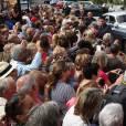 Mariage civil et religieux de Pascal Obispo et Julie Hantson à la mairie et en l'église Notre-Dame-des-Flots au Cap-Ferret le 19 septembre 2015