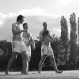Antoine Burban (droite), Maxime Médard (gauche), Rabah Slimani (centre) - Le calendrier des Dieux du stade version 2016 met en scène 31 sportifs de toutes les disciplines, dans leur plus simple appareil
