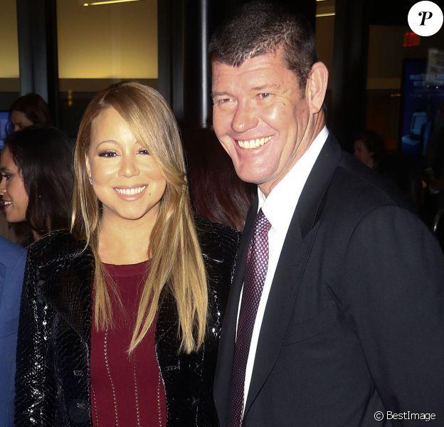 Mariah Carey et son compagnon James Packer - Avant-première de 'The Intern' au Ziegfeld Theatre à New York, le 21 septembre 2015