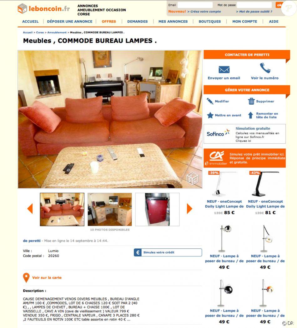 Guy Bedos Vend Les Meubles De Sa Maison Corse En Vente Sur Le Site Leboncoin Fr Septembre 2015 Purepeople