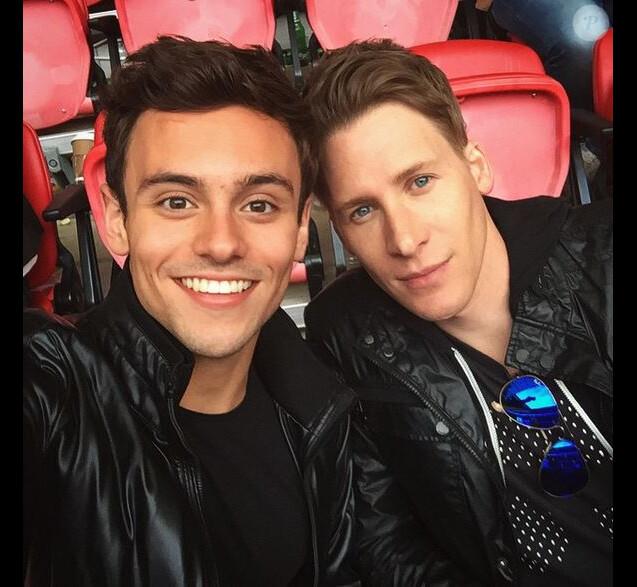 Tom Daley et son chéri Dustin Lance Black sur Instagram en 2015