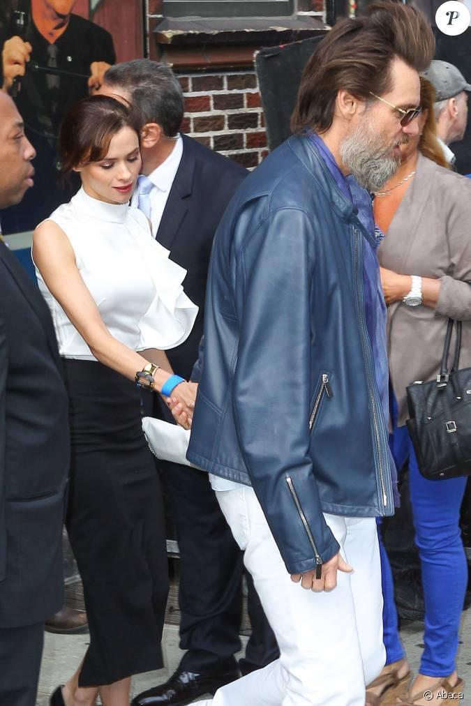 Jim Carrey et Cathriona White au Ed Sullivan Theater pour la dernière du Late...