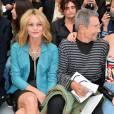 Vanessa Paradis, Jean-Paul Goude et Lily Rose Depp au défilé Chanel le 6 octobre 2015