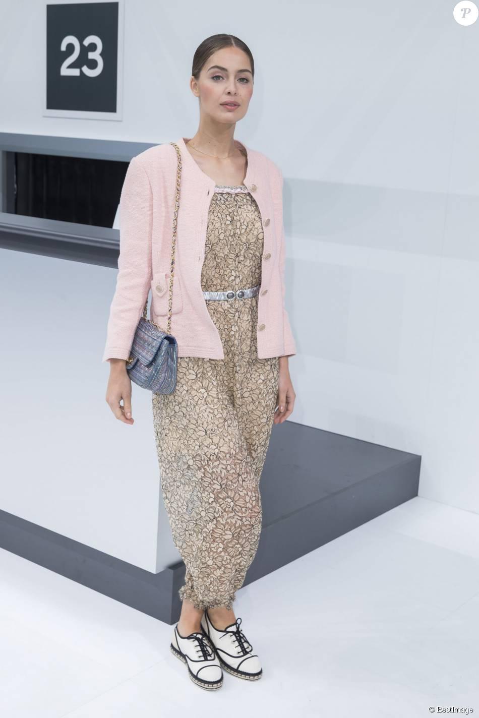 51ee97e6d0458 Marie-Ange Casta - Photocall au défilé de mode  quot Chanel quot