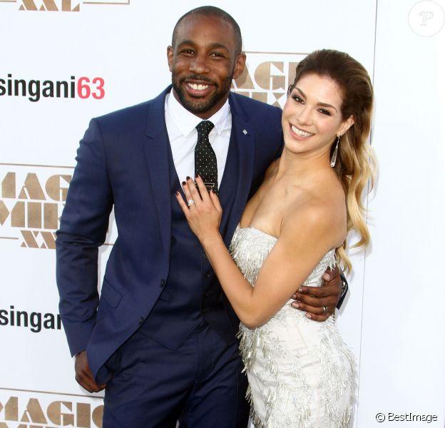 """Stephen tWitch Boss et sa femme Allison Holker - Avant-première du film """"Magic Mike XXL"""" à Hollywood, le 25 juin 2015."""